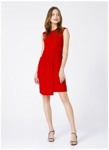 Selen Selen Kadın Kırmızı Düz Elbise Kırmızı